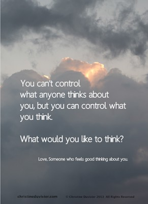 "Image for ""You control what you think"""